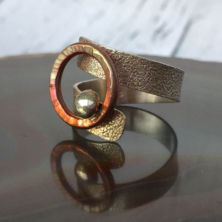 Ray of Hope; Shimmer Collection Mixed Metal (Copper & Sterling Silver) Adjustable Ring; Handmade Jewellery; makeforgood by TLHinspired on Etsy https://www.etsy.com/au/listing/460207486/ray-of-hope-shimmer-collection-mixed