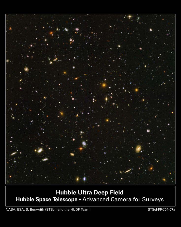 Met de Hubble ruimtetelescoop kan men objecten detecteren tot op afstanden van meer dan 10 miljard lichtjaar.