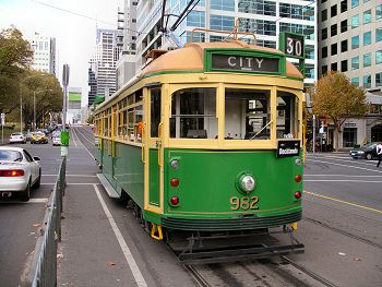 old school melbourne tram