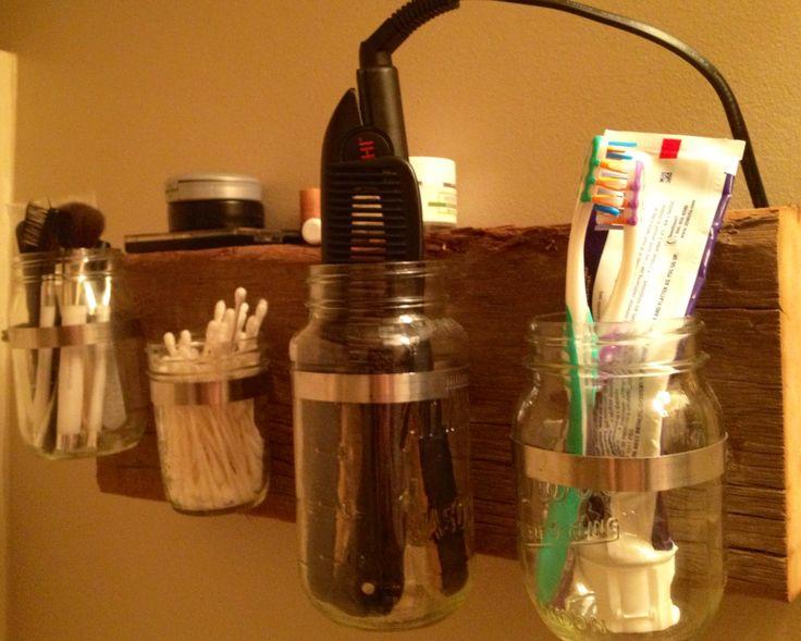 Pinterest the world s catalog of ideas for Bathroom jar ideas