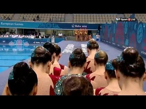 Baku 2015 Synchronised Swimming- Free Combination Preliminary Round- Team GB - YouTube