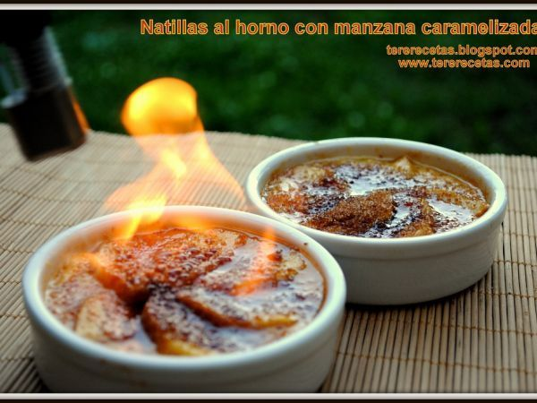 Natillas al horno con manzana caramelizada gochadas for Cocinar huevos 7 days to die