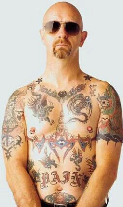 Rob halford tattoos judas priest rob halford pinterest for Painkillers for tattoos