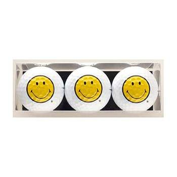 Golf Gifts Smiley Face Premium Golf Ball Gift Pack (3 Balls) at golfessentials.in