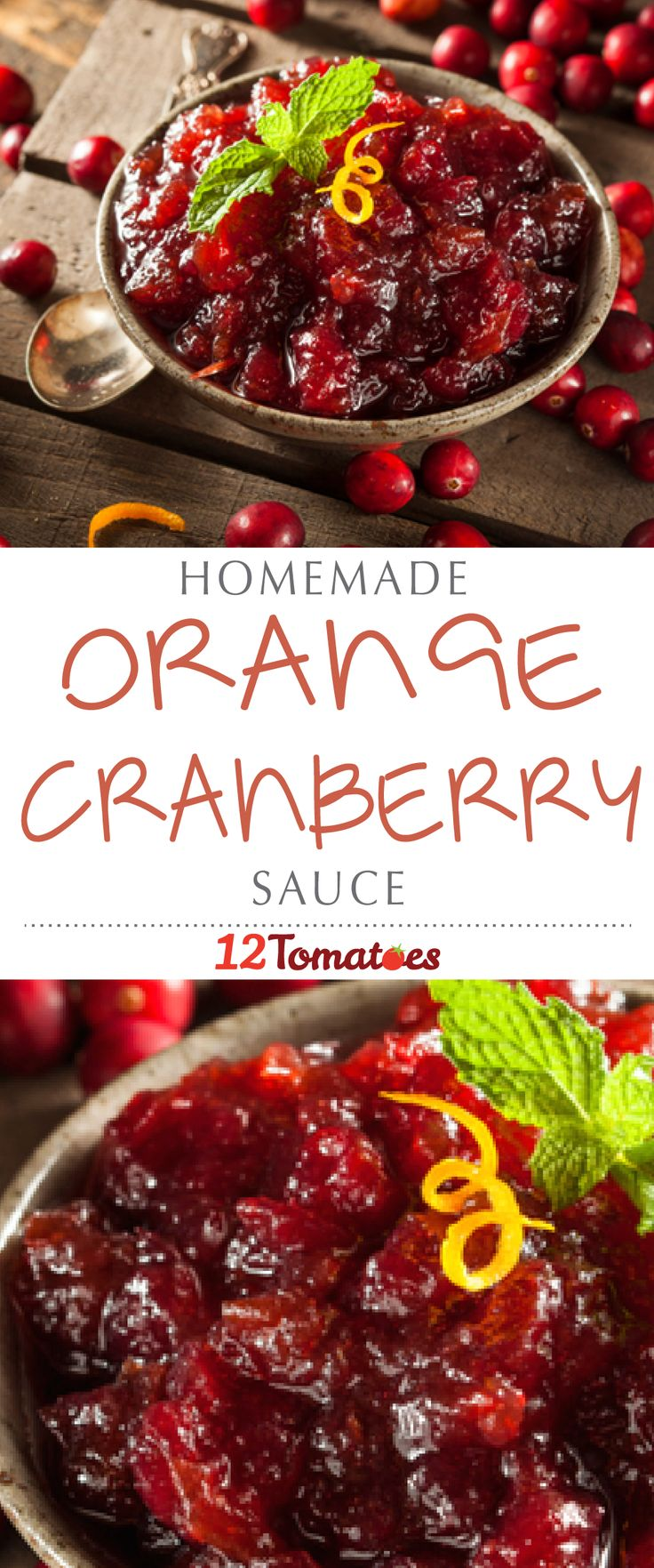 This cranberry (orange) sauce tastes divine when paired with turkey, stuffing and mashed potatoes, and all you have to do is throw the ingredients in a pot; it's such an easy recipe, you can delegate it to someone and not worry about what it's going to turn out like. #Thanksgiving #ThanksgivingRecipes