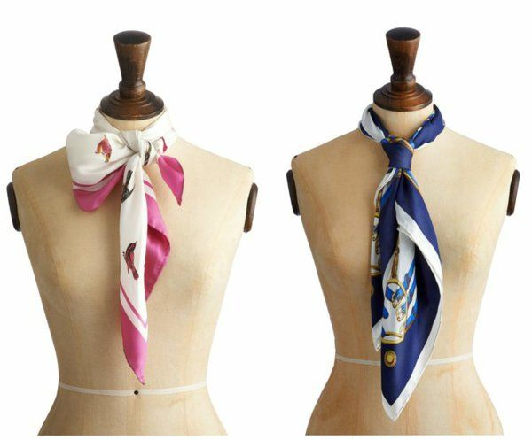 Schal binden Techniken - Falten Sie den Schal, sodass er doppelt so kurz wird. Dann umwickeln Sie ihn um Ihren Hals herum und ziehen Sie das eine Ende durch