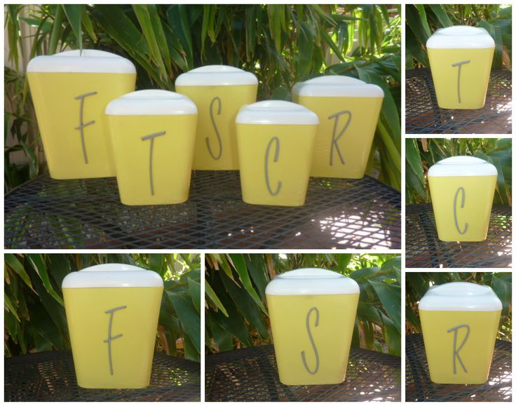 Beautiful yellow Gay Ware canister set...  SOLD.