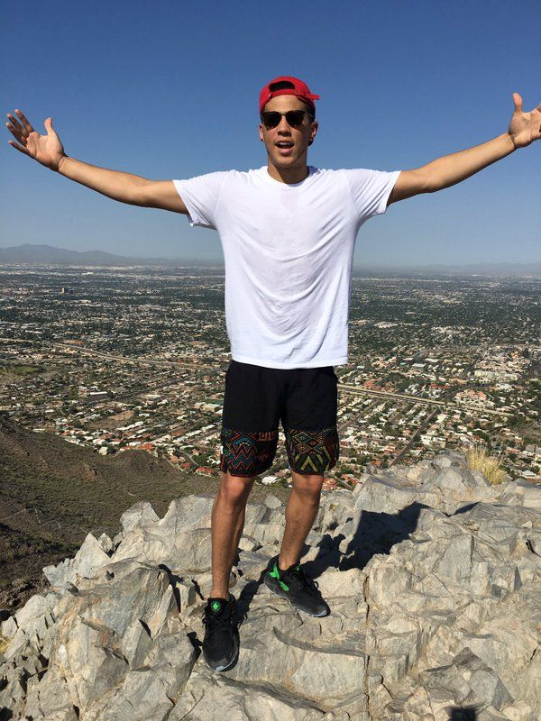 Good morning world. Hiked Piestewa Peak with the squad.. Feeling accomplished haha.