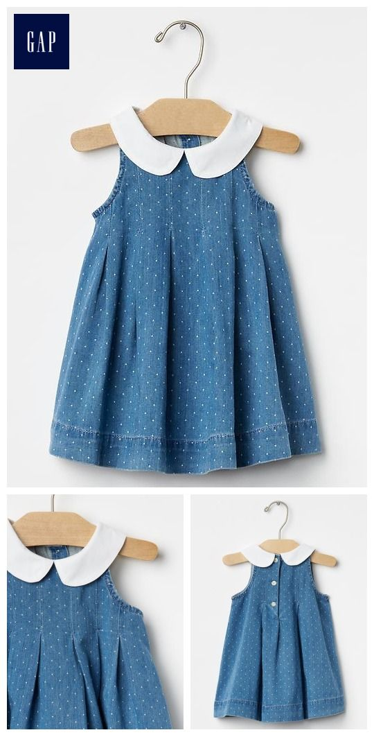 1969 round collar chambray dress