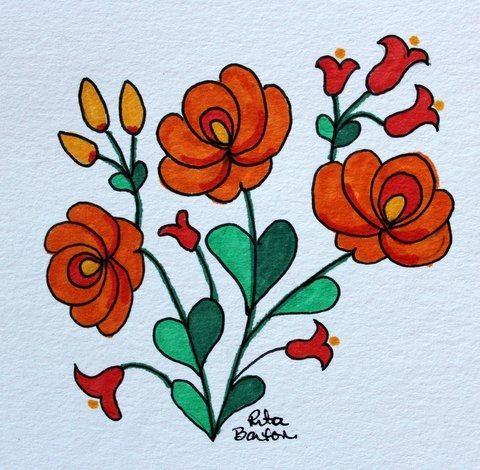 Rita Barton: Latest Hungarian Folk Art Doodles