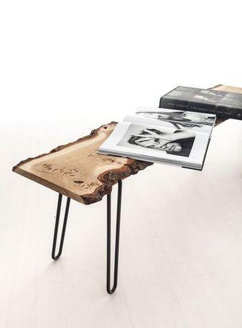 木材にこだわったベンチは、お部屋のディスプレイとして。