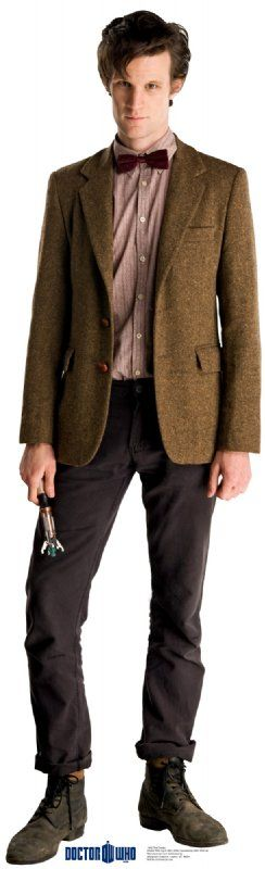 Matt Smith Dr. Who with Screwdriver Poster Lifesize Cardboard Cut-Out Sci-Fi Decoration - The Eleventh Doctor #DrWho