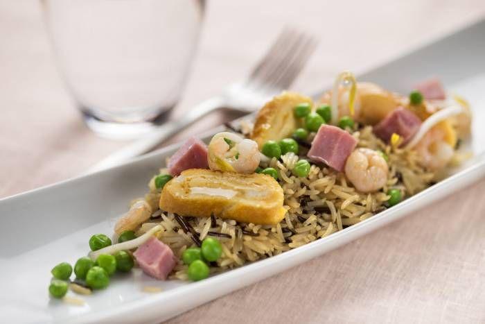Riso selvatico tre delizie #Star #ricette #riso #prosciutto #gamberi #piselli #food #recipes