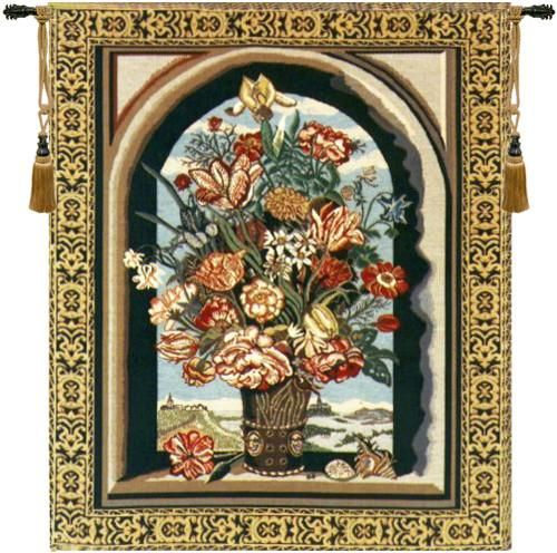 Woven in Belgium History: Ambrosius Bouquet Belgian tapestry is named for the painter Ambrosius Bosschaert of the Maurice Islands, The Hague Netherlands and dep