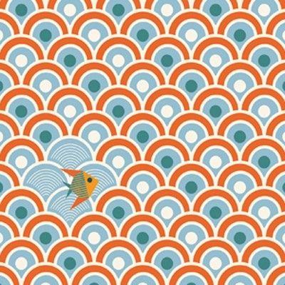 Papier peint Sardines (280 cm) : Djeco - Papier peint à motifs - Berceau Magique