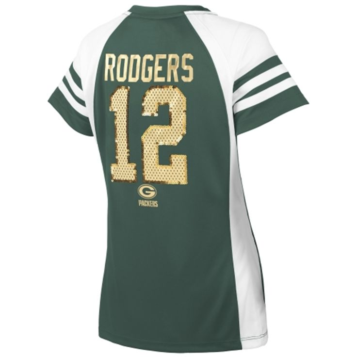 Majestic Aaron Rodgers Green Bay Packers Women's Green Draft Him IV T-Shirt