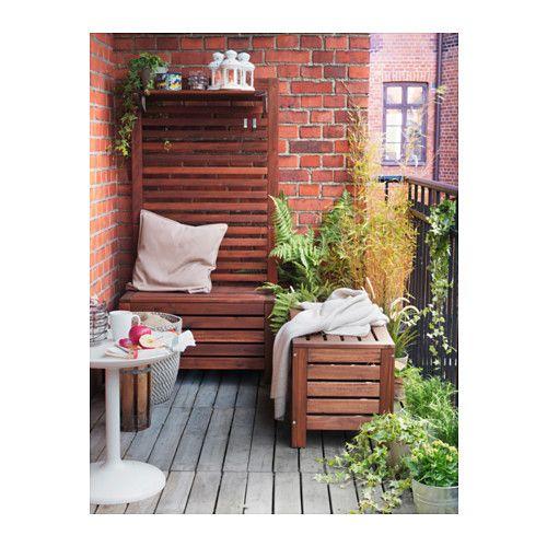 ÄPPLARÖ Panca con contenitore da giardino IKEA Ideale per riporre gli utensili da giardino e i portavasi.