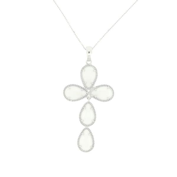 HOPE Kreuz Silberkette **SALE** 70,- statt 105,- Euro  #princesslioness #silberschmuck #silberkette #kreuzkette #kreuzanhänger #silber #weiss #statement #fabelhaft