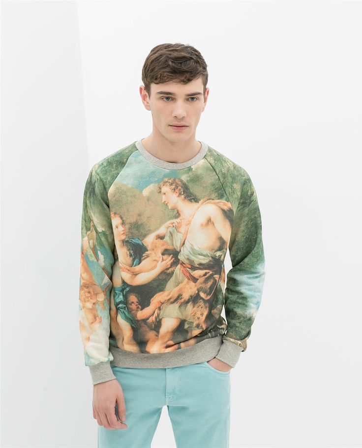 ZARA - MAN - BAROQUE PATTERN SWEATSHIRT