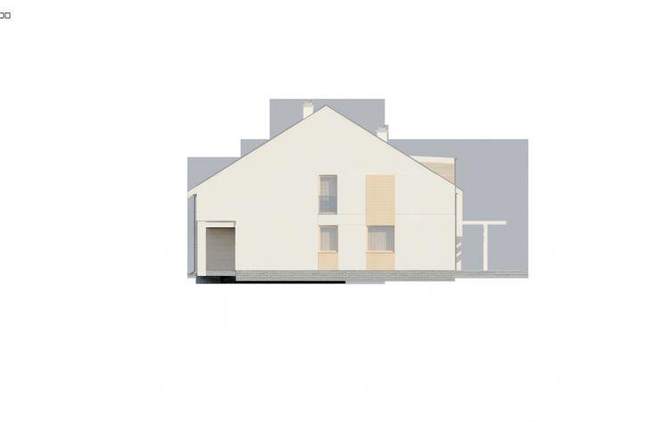 Projekt domu bliźniaczego Zb13 - elewacja 4