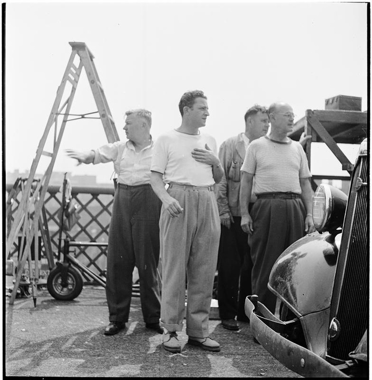 Jules Dassin on the set of The Naked City