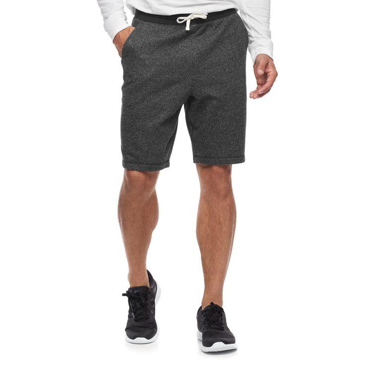 Men's SONOMA Goods for Life™ Supersoft Fleece Shorts, Size: Medium, Black