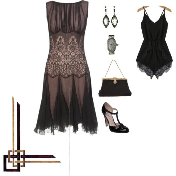 Minimal 1920's outfit by asenat1970 on Polyvore featuring moda and Leon Max