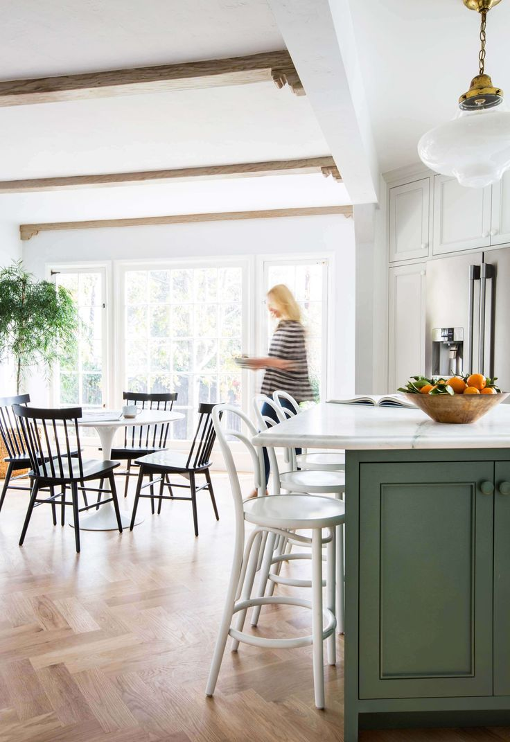 Modern country dining room - Our Modern English Country Kitchenlove These Chairs Windsor Chairs By Threshold For Target