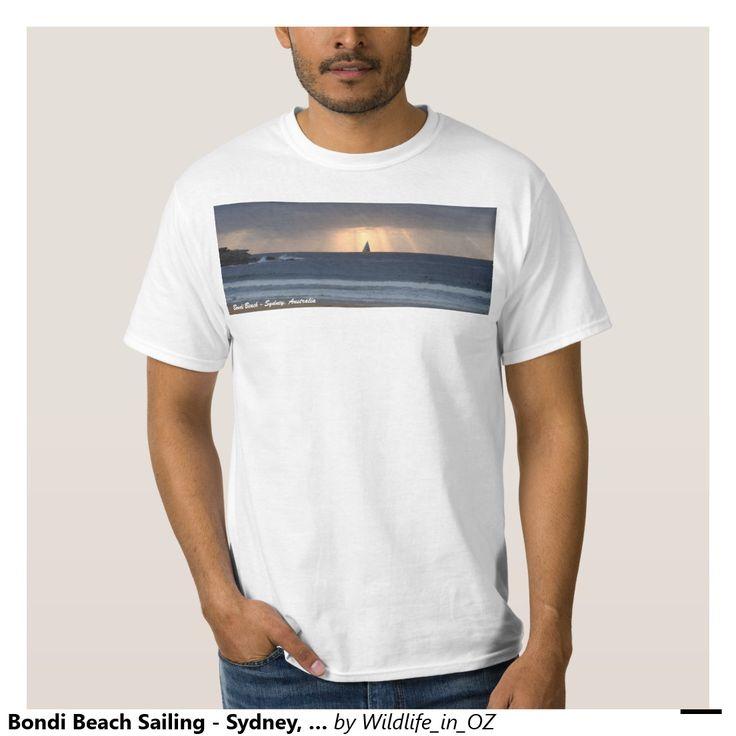 Bondi Beach Sailing - Sydney, Australia T Shirt Bondi Beach Australiana - Click on photo to view item then click on item to see how to purchase that item. #bondibeach #bondi #iconicbeach #sydney #australia #surf #sunrise #sand #surf #yachting