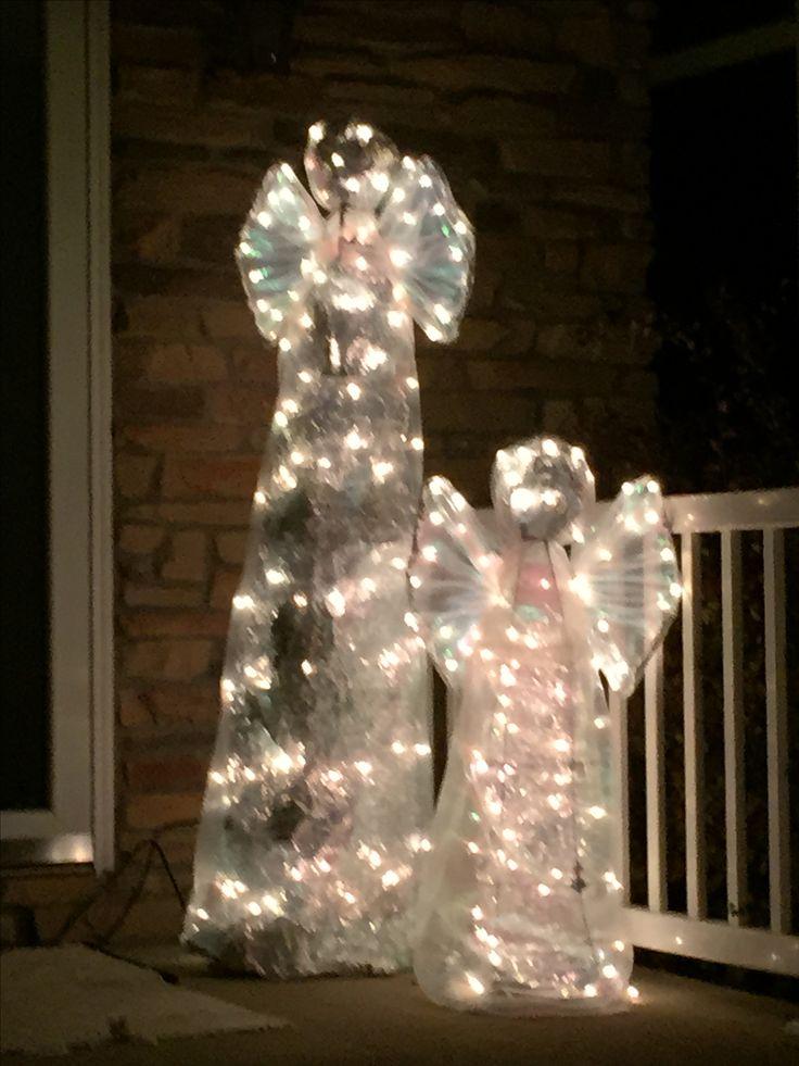 Twig Christmas Trees With Lights