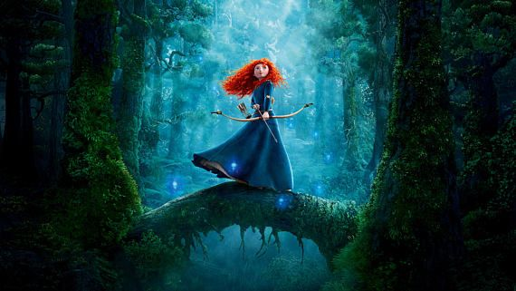 Brave Princess Merida 3D Animation Fantasy Poster Gallery Wrap