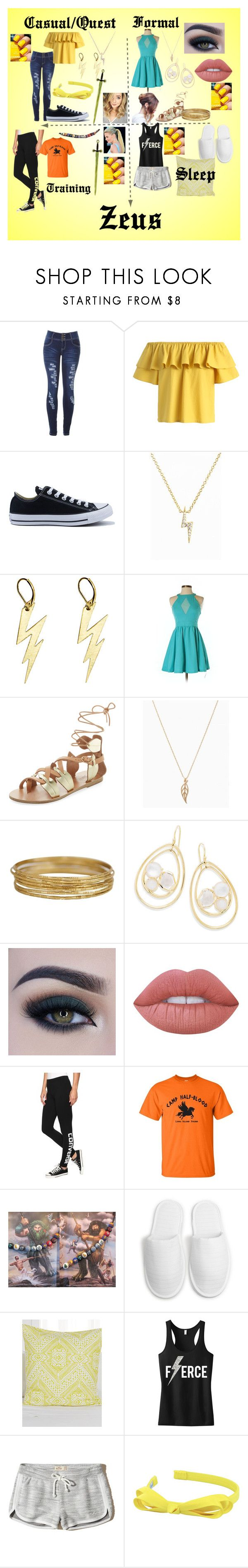 """""""Cabin #1"""" by stonecldfxlol on Polyvore featuring Chicwish, Converse, Sugar Bean Jewelry, Zara Taylor, Tea & Cup, Ancient Greek Sandals, Ippolita, Too Faced Cosmetics, Lime Crime and KAS Australia"""