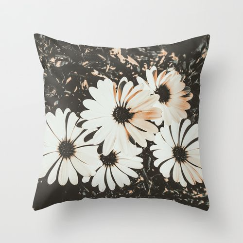 Angels Throw Pillow by Ia Loredana | Society6 #pillow #pillowprint #floral #floralprint #vintage