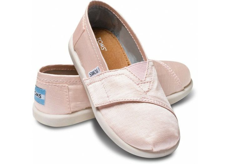 Petal Grosgrain Tiny TOMS Classics hero - so cute, but would get so dirty :)
