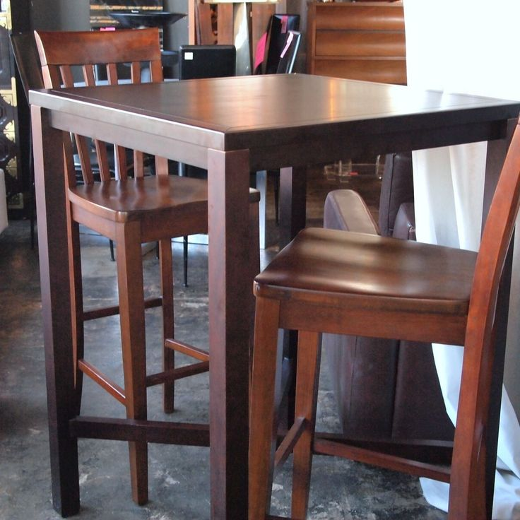 10759 High Top Bar Style Wood Table With 2 Chairs The Nest Pinterest Wood Table