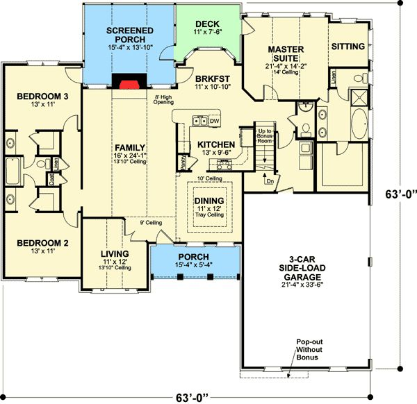 2492 best images about floor plans on pinterest house for Brick ranch floor plans