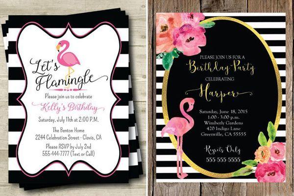Os convites com flamingo são divertidos e têm uma pegada tropical! Para quem gosta da ideia, selecionamos 20 inspirações lindas!