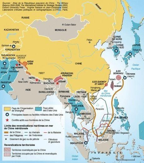 Carte : Tensions en mer de Chine (Le Monde diplomatique) | Géographie des mers et des océans | Scoop.it