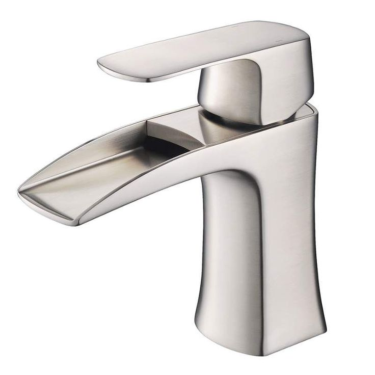 Fresca FFT3071 Fortore Single Hole Bathroom Faucet Brushed Nickel Faucet  Lavatory Single Handle
