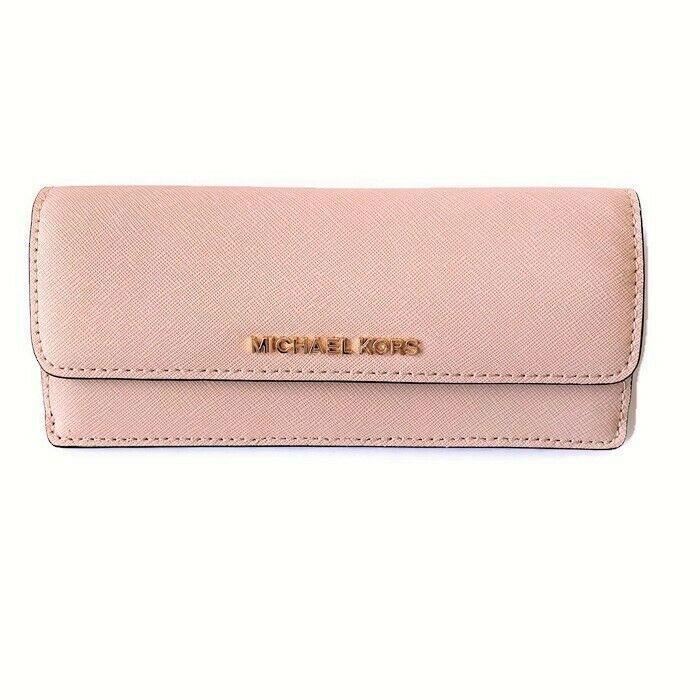 1eedaaf9daf9d2 Michael Kors Flat Wallet ~ Ballet Pink Envelope Saffiano Leather Jet Set  Travel #MichaelKors #Envelope