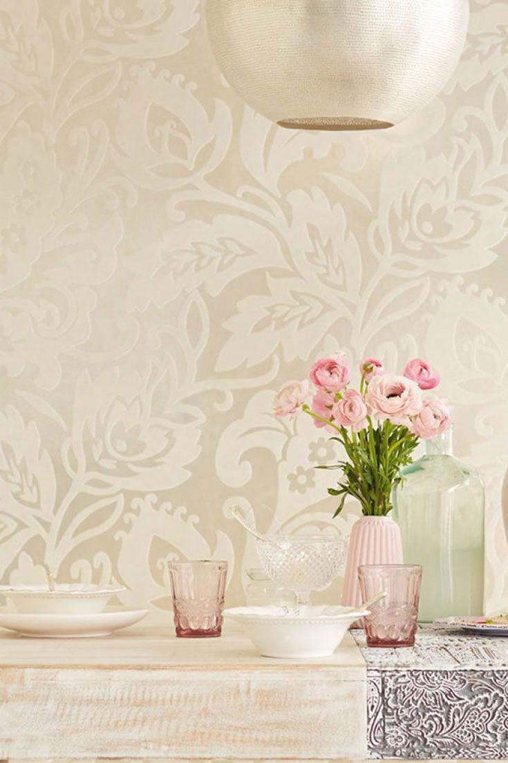 Prestigious Textiles Lumiere Rose Gold Wallpaper