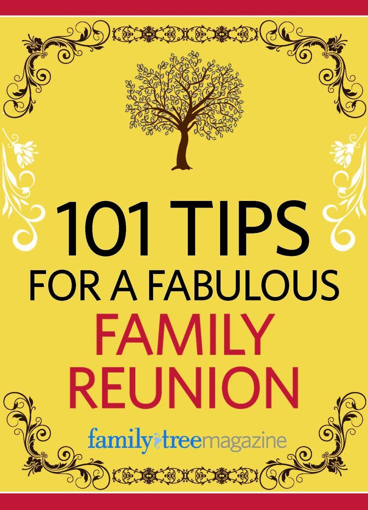 101 Tips for a Fabulous Family Reunion e-Book | ShopFamilyTree