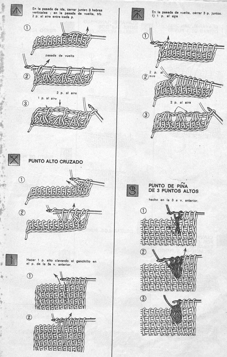 Puntos básicos tunecino 3 / Tunisian basic stitches 3