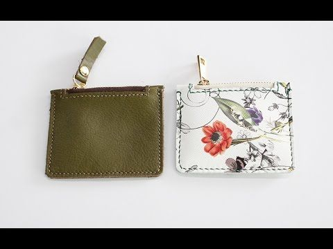 [가죽공예 GNL TV] 제3회 지퍼 동전지갑 만들기 Short ver.( Leather D.I.Y making Zipper Coin Purse by handstitch ) - YouTube