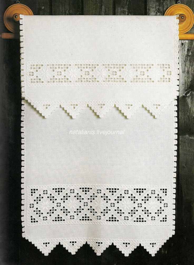 Hardanger doily - traditional white-on-white embroidered cloth from Norway