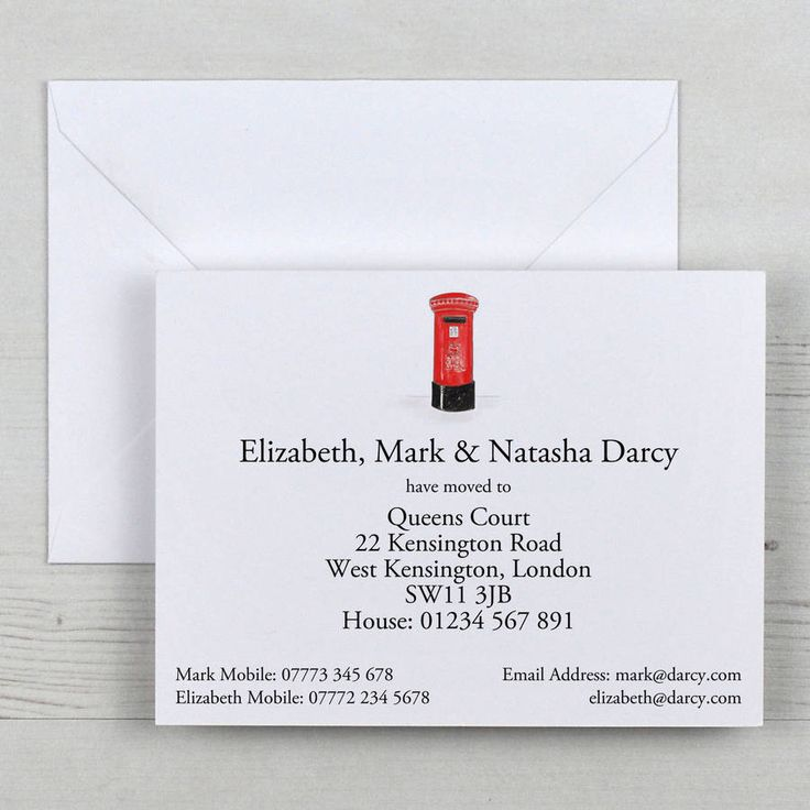 19 best Change of Address Cards images on Pinterest   House cards ...