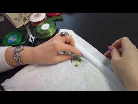 Первые шаги в вышивке лентами. First steps in embroiding with ribbon - YouTube
