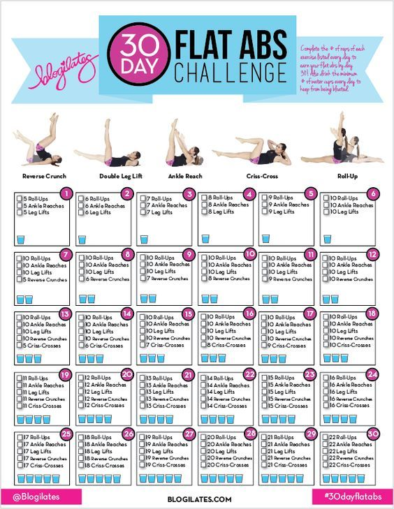 30 day ab challenge! Just complete the moves listed each day to earn your abs at the end of the conquest! Also be sure to hydrate to keep from being bloated. Repin if you're in!: