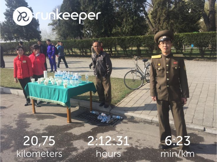 The water stops were great, organisation was smooth, and the weather was perfect! Can't believe I did the Pyongyang run 🏃🏼 #northkorea #dprk