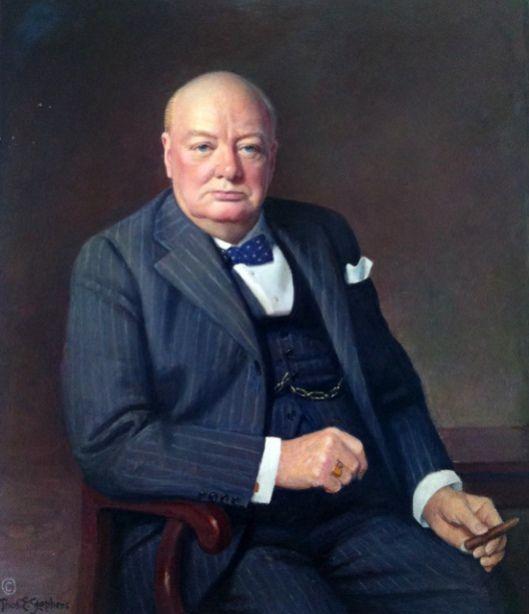 Portrait of Winston Churchill by Thomas Edgar Stephens (American 1886 – 1966)